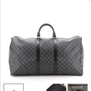 Louis Vuitton Keepall Bandoliere Damier Graphite55